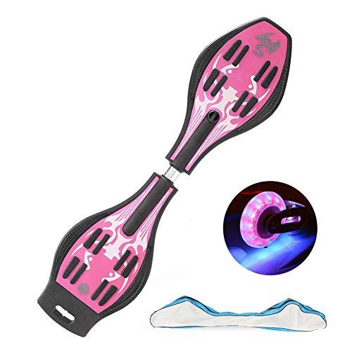 スケートボード キックボード キッズ用 子供 外遊び おもちゃ 光るタイヤ 仕様 ギフト 3-6歳以上男の子 女の子誕生日 プレゼント (ピンク)