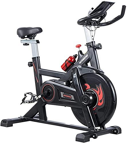 NBLD Bicicleta giratoria Bicicleta estática para el hogar, Gimnasio, Ciclismo en Interiores, Bicicleta estática, Bicicleta giratoria silenciosa con Correa, con Soporte para Botella y Soporte para