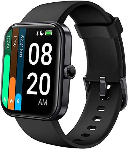 YSNJG Smart Watch for Women Men, 1.69 '' Fitness Touch Fitness, 14 Modos Deportivos 5Atm Reloj con Ritmo Cardíaco Y Monitor De Oxígeno En La Sangre,Negro