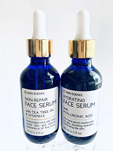 Bundle of Skin Science Hydrating with Hyaluronic Acid & Repair with Tea Tree Oil and Vitamin E Face Serum