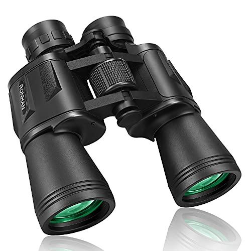RONHAN Binocolo Professionale, Binocolo 10X50 per adulti con visione chiara, Binocolo HD impermeabile e antiappannamento per osservazione uccelli, caccia, escursionismo, partite di calcio