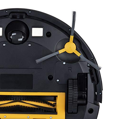 H.Koenig SWRC130 Robot Aspidador y Fregasuelos 3 en 1, Aspira, Barre y Friega, Autonomía 100 Mins, 1800 Pa, Filtro HEPA, 70 dB, Tanque de agua 600 ml, 4 Ciclos, Conexión Wifi, Compatible con Alexa