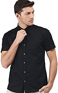 DJ&C By fbb Men's Plain Regular Fit Casual Shirt