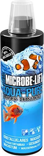 MICROBE-LIFT Aqua Pure – Flüssiges Filtermedium mit lebenden Bakterien für Ihr Meerwasser und Süßwasser Aquarium, Wasseraufbereitung, 473 ml