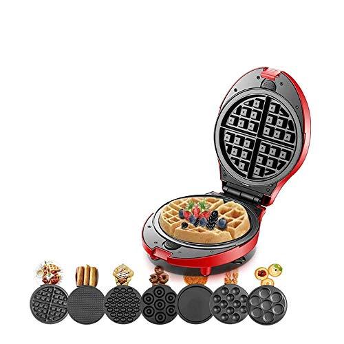 Gaufrier professionnel Gaufrier, multifonctions gaufrier électrique Donut Cornet de glace Barbecue gâteau du four Poêle à Frire Egg Machine, Convient for simple crêpes (7 plaques)