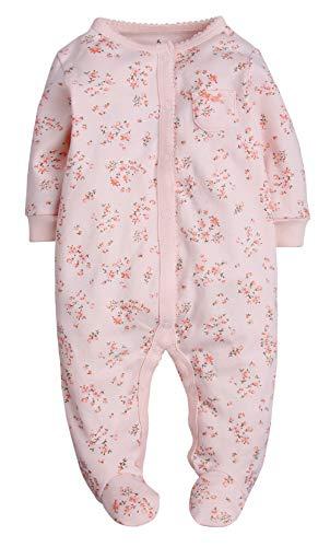 ZOEREA Baby Schlafanzug, Pyjama für Jungen und Mädchen Spielanzug mit Füßen Einteiler Langarm Baby Kinder 100% Baumwolle