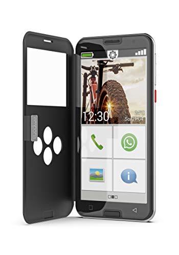 Emporia SMART.5 - Seniorensmartphone mit Triple Kamera, Octa-Core-Prozessor & größerem Akku. Bestens geschützt und bedienbar mit dem mitgelieferten Smartcover und Smartphone Ratgeber