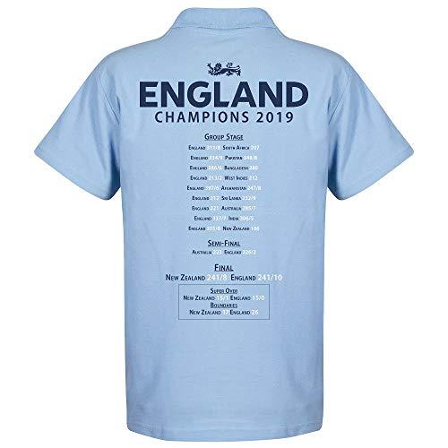 England Kricket Weltmeister Road to Victory Polo Shirt - hellblau - S