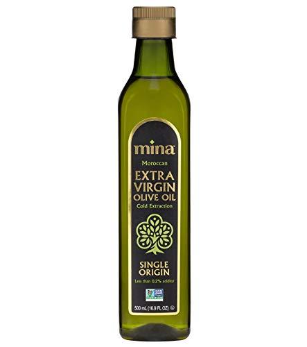 Mina Extra Virgin Olive Oil, Single Origin, Cold Extracted, Moroccan Olive Oil High in Polyphenols, November 2020 Harvest – 16.9 Fl Oz (500 ml)