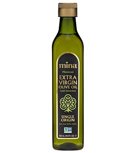 Mina Extra Virgin Olive Oil, Single Origin, Cold Extracted, Family Harvested, Healthy Moroccan Olive Oil High in Polyphenols – (16.9 Ounces)