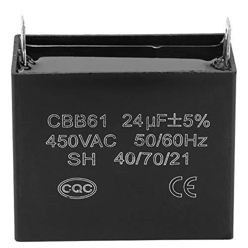 Capacitor, 450V AC 24uF 50 / 60Hz Condensador de Arranque para Generadores Diesel de Gas sin Escobillas, Resistente al Calor, Baja Fuga, Baja Pérdida y Baja Impedancia