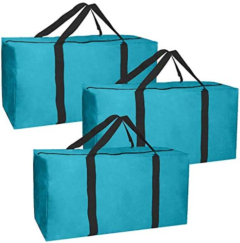 JALOUSIE 3 Pack Extra Large Heavy Duty Storage Bags Moving Bag Totes Storage Bin Space Saver product image