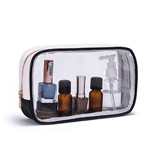 Filet de Maquillage Transparent Rouge avec Le Sac de Rangement Ins Girl Wash Products Petit Sac de Transport étanche FANJIANI (Color : Black)