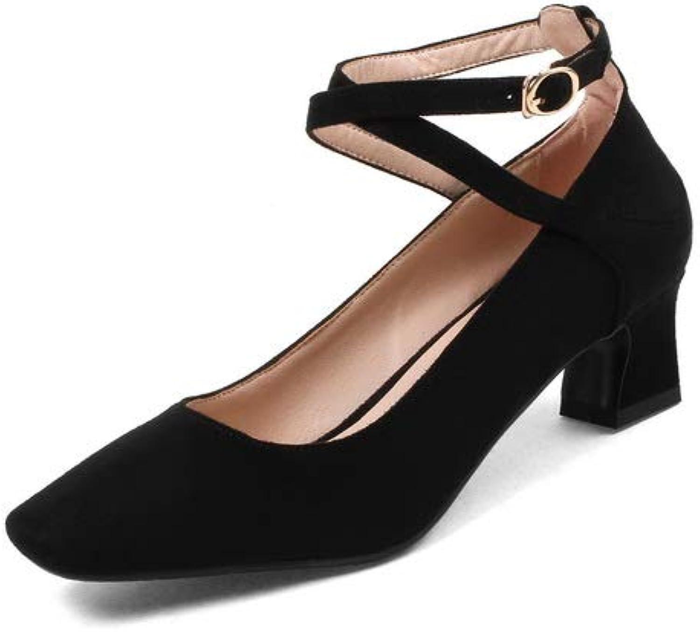 BalaMasa Womens Dress Solid Baguette-Style Urethane Pumps shoes APL10626