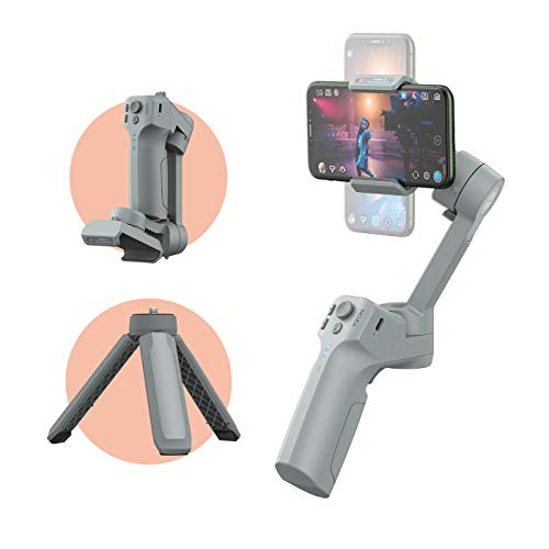 MOZA Mini-MX Smartphone Gimbal Handheld Stabilizer 280g Max Payload for Vlog YouTube Street Snapshot Compatible iOS & Android Small Palm Size iPhone/Huawei/sumsung/oneplus