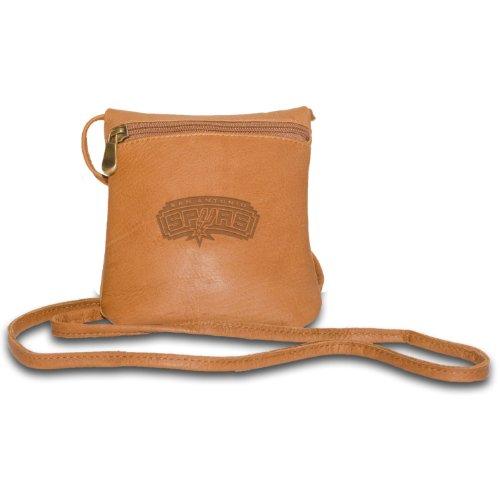 Pangea Brands NBA Damen Mini Tasche aus hellbraunem Leder, San Antonio Spurs
