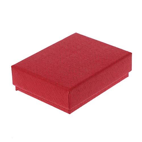 MINGSTORE Empaquetado de la joyería de Las Cajas de Regalo del Cuadrado del Papel de Kraft para Las Pulseras de los Collares de los Pendientes