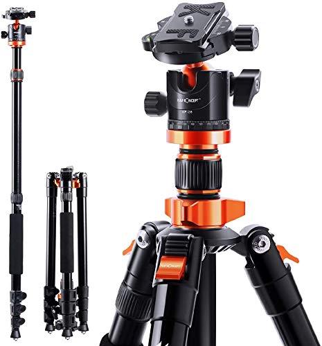 K&F Concept Treppiede Treppiedi Fotocamera Portatible 200cm con Monopiede 205cm,...