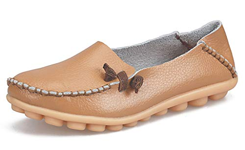 labato Women's Leather Loafers Comfortable Slip on Leather Driving Shoes Casual Flat...