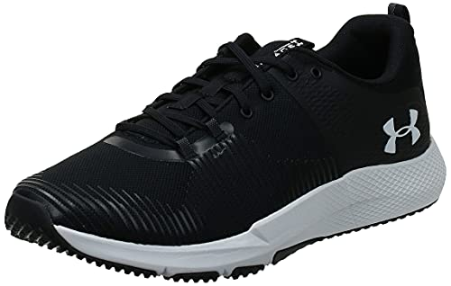 Under Armour Men's Charged Engage Cross Trainer, Black (001)/White, 11 M US