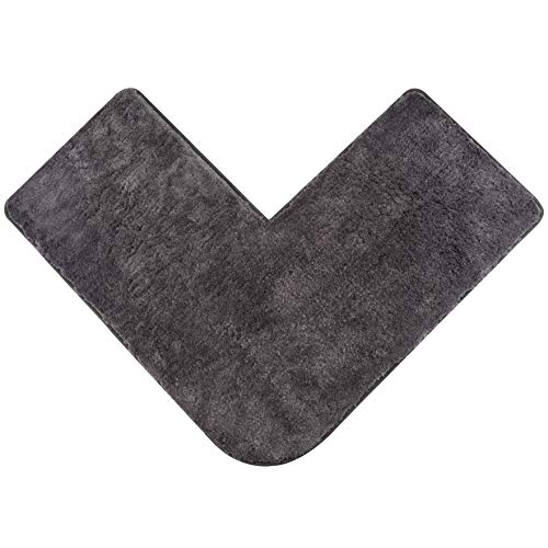 Santec Hochflor-Badteppich aus Mikrofaser für Eckduschen, mit rutschfester Unterseite