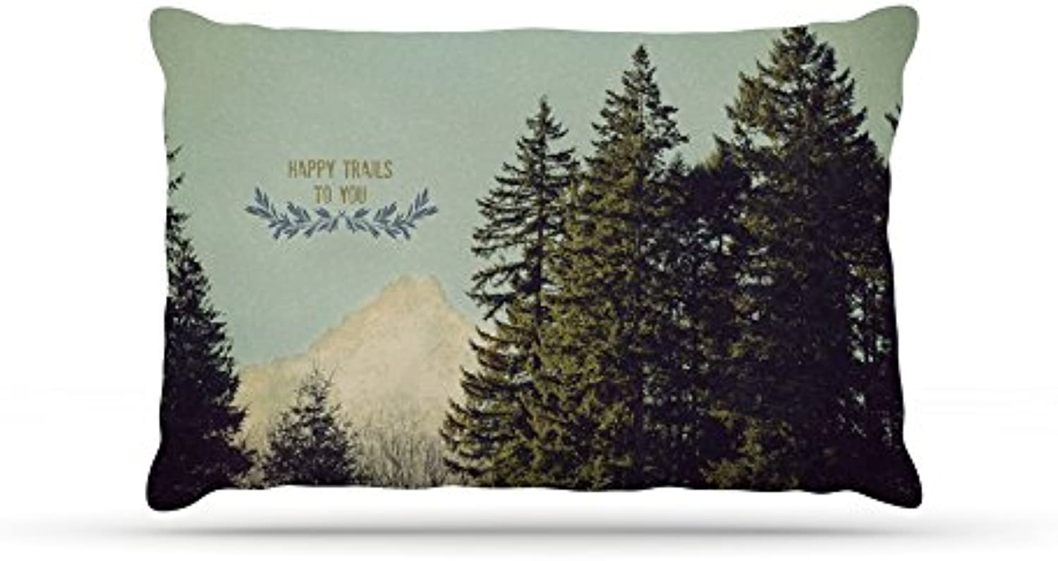Kess InHouse Robin Dickinson Happy Trails  Green Dog Bed