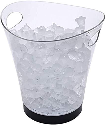 Cerveza Refrigerada Cubitera para Hielo LED 5L Cubierto de hielo grande de colorido, champán de 7 colores bebidas vinícolas de la cerveza refrigerador de hielo de la cerveza para la barra del partido