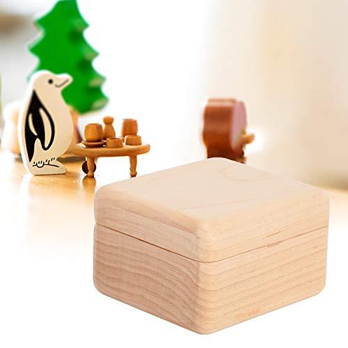 CUTULAMO Caja de música de Madera, Pulida Suavemente Cajas de música navideñas con manualmente para Girar el Mecanismo de relojería para cumpleaños de Navidad para Padres de niños