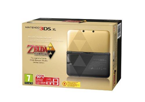 Nintendo 3DS - Consola XL (Edición Especial Limitada Zelda) + Zelda: Link Between Worlds (Código Descarga)