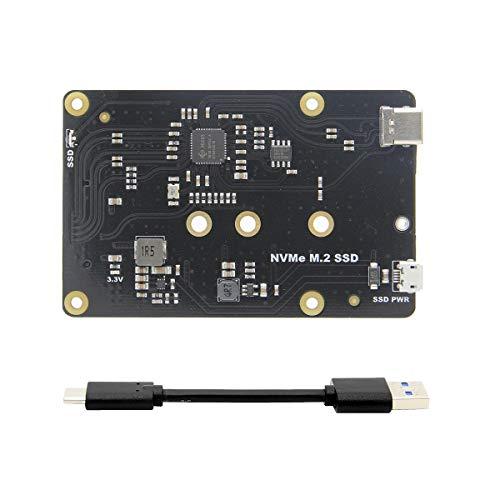 weichuang Electronic Accessories X870 NVME M.2 2280/2260/2242/2230 SATA SSD NAS Erweiterungsplatine mit USB 3.0 Jumper für RPi / Rock64 Elektronikteile Elektronikzubehör