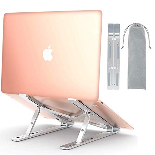 Comsoon Laptop Stand, Adjustable Portable Laptop Holder for Desk, Cooling Aluminum Ventilated Notebook Riser Compatible with MacBook Air Pro, Dell XPS, More 10-15.6 inches PC Computer, Tablet, iPad