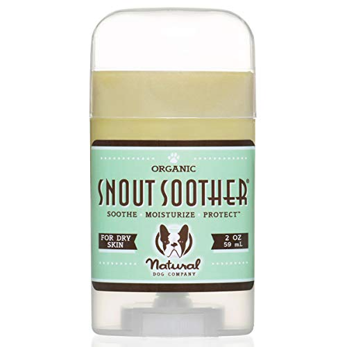 Natural Dog Company Snout Soother, Dog Nose Balm for Chapped, Crusty and Dry Dog Noses, Organic, All Natural Ingredients, 2oz Stick, Packaging May Vary