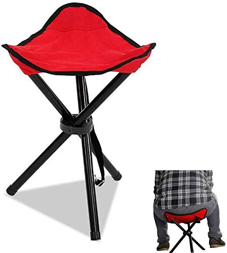 SPFOZ Haus Dekoration Lager 150g wasserdicht Tensisle 600D Oxford Outdoor Portable Angeleisen Kompakte Falten Dreieck Stuhlstuhl (Color : Red Color)