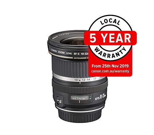 Canon EF-S 10-22mm f/3.5-4.5 USM - Objetivo para Canon (Distancia Focal 10-22mm, Apertura f/3.5-29, Zoom óptico 2.2X,diámetro: 77mm) Negro