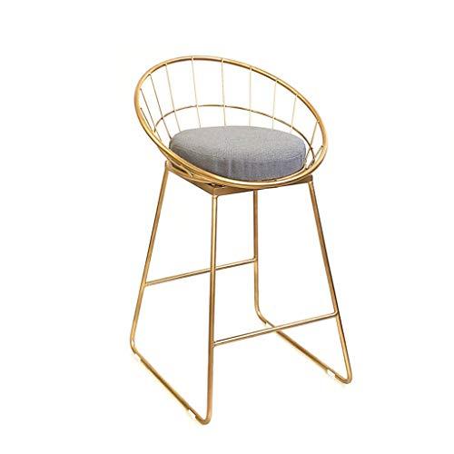 Tabouret de bar en fer forgé Chaise de bar Tabouret haut doré Chaise de salle à manger Chaise de salon Tabouret de bar (taille : A)