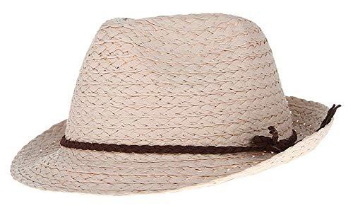 Sombrero De Paja Moda De Mujer Elegante Sombrero De Sencillos Paja Sombrero De Jazz Sombrero De Panamá Trilby Sombrero De Verano Sombrero De Playa Sombrero Girth 54Cm Estilo