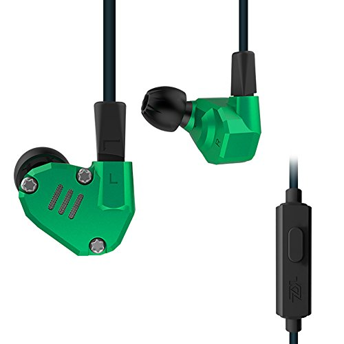 Quad Driver Headphones,ERJIGO KZ ZS6 High Fidelity Extra Bass Earbuds with Microphone,with Detachable Cable