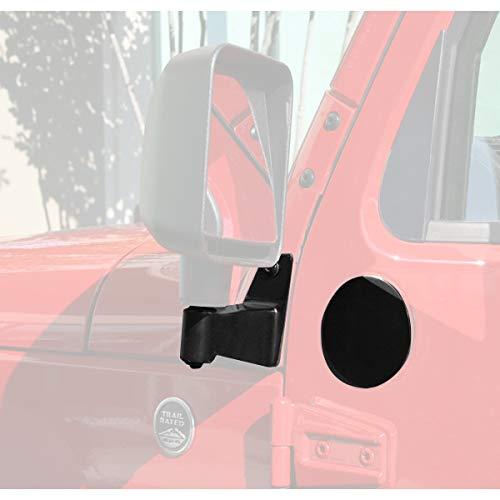 Rugged Ridge 11025.04 Mirror Relocation Bracket Kit, Black; 07-18 Jeep Wrangler JK