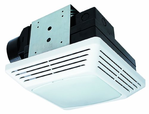Air King BFQF70 Energy Star High Performance Snap-In 70-CFM Exhaust Bath Fan with Light, White