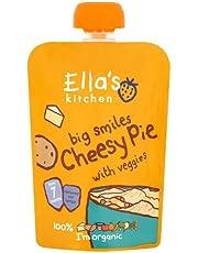 Ella's Kitchen Organic Puree, Cheesy Pie With Veggies, 130g (Pack of 1)