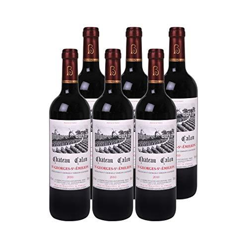Château Calon Saint-Georges-Saint-Emilion Rotwein 2010 - g.U. - Bordeaux Frankreich - Rebsorte Merlot, Cabernet Franc, Cabernet Sauvignon - 6x75cl - Médaille de Bronze International Wine Challenge