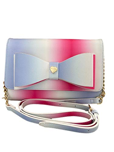 Betsey Johnson Dani Floral Printed Crossbody with Bow Pink Multi One Size
