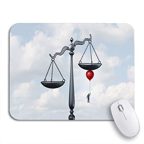 Adowyee Gaming-Mauspad, das die Waage der Gerechtigkeit kippt, während das Gericht rutschfestes Computer-Mauspad mit Gummirücken für Notebooks-Mausmatten bewegt wird