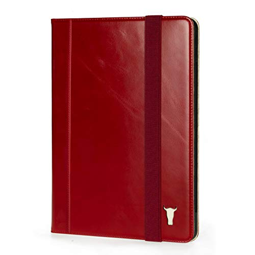 TORRO Tablet Case Compatible With Apple iPad Pro 12.9' Genuine Quality Leather Stand Cover With [Multiple Viewing Angles] [Wake/Sleep Enabled] 4th Gen - 2020 Release (Red)