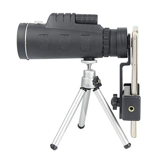 Telescopio Monocular, Magnificación Personas Telescopio Monocular 40X60 Alta con El Trípode Y Móvil Clip De Teléfono para Wild Bird Observación De Animales De Caza Viaje De Camping