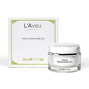 L Aveu Facial Exfoliating Gel - Cleansing Exfoliant Solution with Green Tea Witch Hazel Dead Sea Minerals - Gentle & Natural Face Exfoliator for Clean Skin & Dead Skin Removal - Made in Israel 1.7oz
