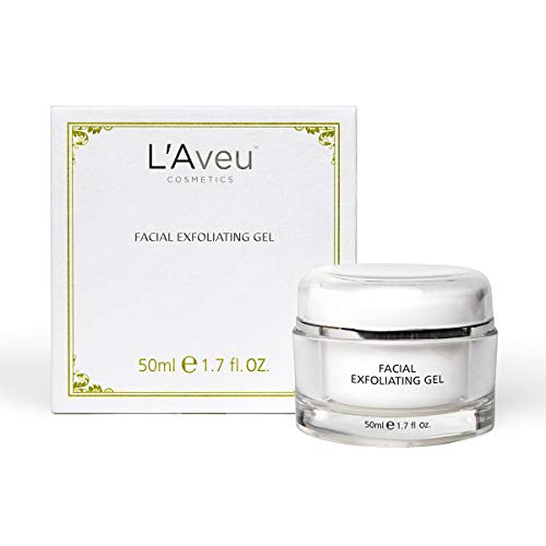 L'Aveu Facial Exfoliating Gel - Cleansing Exfoliant Solution with Green Tea, Tea Seed, Dead Sea Minerals - Gentle & Natural Face Exfoliator for Clean Skin & Dead Skin Removal - Made in Israel, 1.7oz