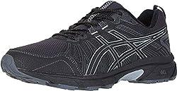 top 10 asics walking shoes ASICS Gel-Venture 7, 13M, Black / Seat Lock