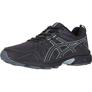 ASICS Men's Gel-Venture 7 Running Shoes, 10.5, Black/Sheet Rock