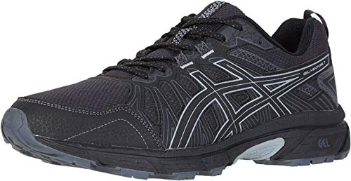 ASICS Men's Gel-Venture 7 Running Shoes, 11M, Black/Sheet Rock